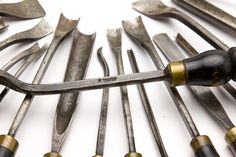 Magnificent Set of 40 ADDIS Chisels With Stunning Custom Handles