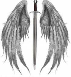 Angel Wings Tattoo On Back, Angel Wings Drawing, Fallen Angel Tattoo, Wing Tattoos On Back, Angel Wings Art, Angel Art, Back Tattoo, Tattoo Drawings, Body Art Tattoos