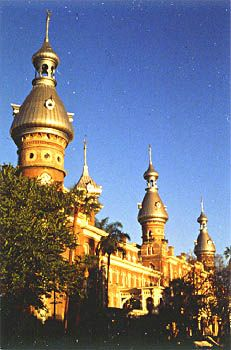 Plant Hall at University of Tampa - part of the Tampa skyline