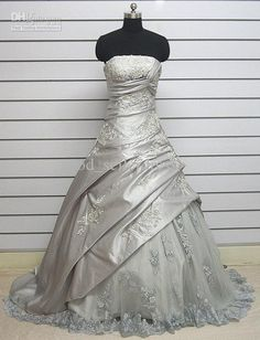 Silver wedding dress... maybe not quite that long!!!!! | wedding ...