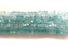 Blue Apatite Square Rondelle Beads 5mm AA by JewelryQuestDesign, $16.99