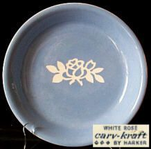 White Rose Pie Plate and marking