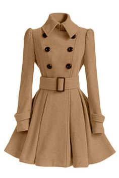 Cheap fashion trench coat, Buy Quality trench coat directly from China trench coat fashion Suppliers: 2017 Fashion Europe Winter Autumn Woolen Coat Belt Buckle Trench Coat Double Breasted Coat Long Sleeve Casual Dress Full Skirt Long Brown Coat, Long Wool Coat, Long Trench Coat, Belted Coat, Trench Coat Dress, Jacket Dress, Trench Jacket, Camel Coat, Trench Coats