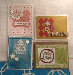 CTMH stamps, Cricut cuts, and papers.