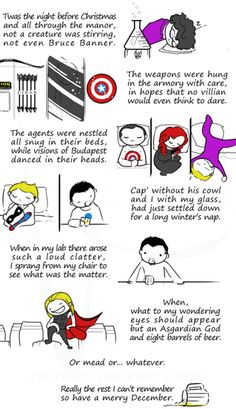 An Avengers' Night Before Christmas tale.