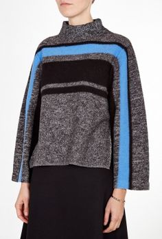 Boiled Wool Cape Pullover By Tibi