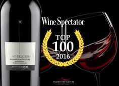 """The dream of every wine producer is to be in Wine Spectator TOP 100 world wines list. This dream has come true for us today, thanks to a great wine of our Basilicata company, Aglianico del Vulture DOC """"Piano del Cerro"""". Passion always wins!!! Wine Spectator #aglianicodelvulture #winespectatortop100of2016 #top100wines #2016top100wines #winespectator100wines"""