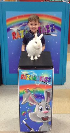 Razamatazz magic show with Rodney Rabbit Magic Show, Toy Chest, Storage Chest, Rabbit, Entertaining, Toys, Decor, Bunny, Activity Toys