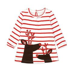 e8a640c06f8 little girl chirstmas deer printed long sleeve dresses Xmas Dresses