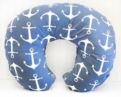 Navy Anchor Boppy Cover is made to fit the standard Boppy Bare Naked Pillow. Remove slipcover for easy washing. Coordinate with our Anchors Away in Navy Baby Bedding. Does not include Boppy Pillow. Fr