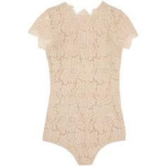 I.D. Sarrieri La Belle Chantilly lace bodysuit featuring polyvore, women's fashion, clothing, intimates, shapewear, bodysuit, underwear and nude