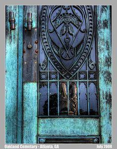 Mausoleum doors Oakland cemetary in Atlanta GA