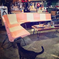 Millie wanted to say #shopcat This one is especially for the bowlers  Wouldn't this make a rad statement in a #loft  #creativeofficespace #mancave ?!?#societyofsalvage #orange #lofty #interiordesign #design #vintagestyle pricing has yet to be determined #instacat