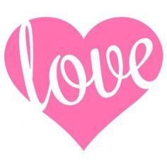 Love Heart Heat Transfer Design for Valentine's Day
