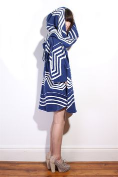Knitted sailor coat