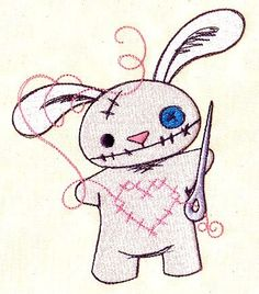 Bunny tattoo that's on my side =)