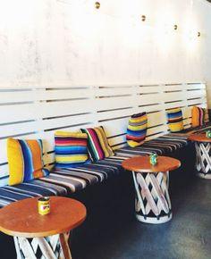 we are loving this boho-chic restaurant design!