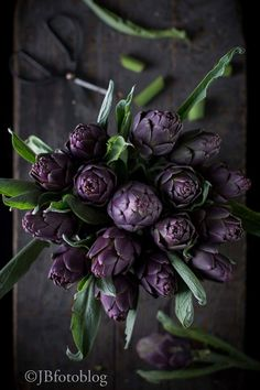 Artichoke In Bouquets Shades Of Purple, Green And Purple, Fresh Flowers, Beautiful Flowers, Photo Fruit, All Things Purple, Fruit And Veg, Food Art, Medicinal Plants