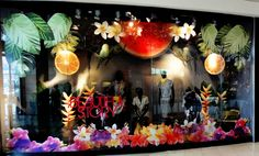 tropical window display for Reserved / summer 2011
