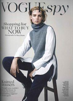 By Malene Birger in Vogue UK. Vogue Uk, Malene Birger, September 2014, Spy, Buy Now, Joggers, Trousers, British, Sweatshirts