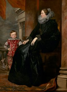 Dyck, Anthony van, Sir Flemish, 1599 - 1641 A Genoese Noblewoman and Her Son c. 1626