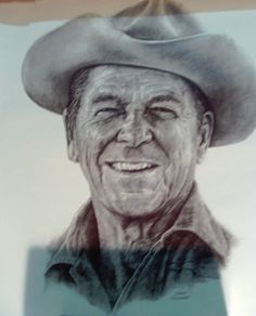 LIMITED PRESIDENTIAL PORTRAIT EDITION PRINT OF RONALD REAGAN 1981 REAGAN COUNTRY