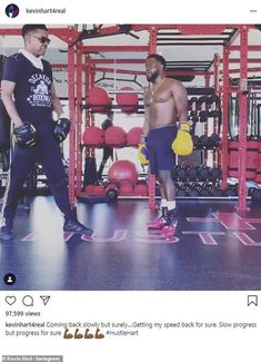Kevin Hart looks to be in tip-top shape honing his boxing skills less than a year after car crash / #boxing Eniko Parrish, Boxing Practice, Night School, Joe Rogan, Rocky Balboa, Welcome To The Jungle, Kevin Hart, Sky News, Car Crash