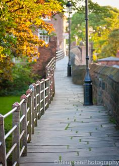 Walking the city walls of Chester UK.
