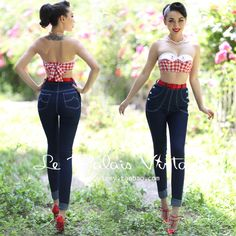 58.00$  Watch now - http://ali0qf.shopchina.info/go.php?t=32661245293 - FREE SHIPPING Le Palais vintage retro classic double breasted high waist skinny jeans pencil pants 58.00$ #buyonlinewebsite