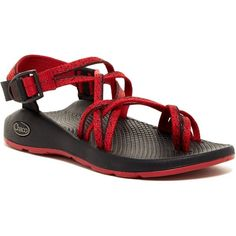 Chaco ZX2 Yampa Loop Toe Sandal ($70) ❤ liked on Polyvore featuring shoes, sandals, spirit rxb, woven shoes, platform sandals, strappy sandals, woven sandals and strappy platform sandals
