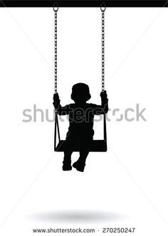 boy swinging from tree clip art - Google Search