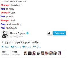If this happened to me I would die of feels that I actually talked to Harry Styles