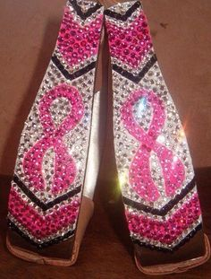 Cowhorse Designs Breast Cancer Awareness Bling Stirrups