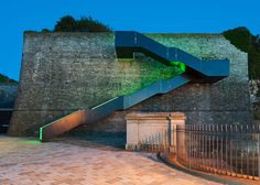 Coast Path Staircase at Royal William Yard by Gillespie Yunnie