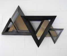 """CURTIS JERE """"TRIANGLES"""" WALL SCULPTURE"""