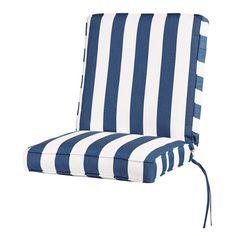 Home Decorators Collection Sunbrella Maxim Regatta Outdoor Lounge Chair Cushion