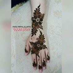 Latest Henna Designs, Floral Henna Designs, Back Hand Mehndi Designs, Mehndi Designs Book, Modern Mehndi Designs, Mehndi Designs For Girls, Mehndi Designs For Beginners, Wedding Mehndi Designs, Henna Designs Easy