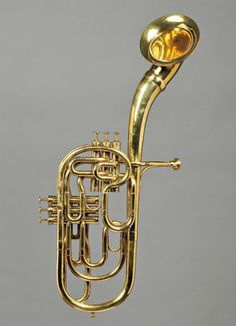 Saxhorn. Developed during the mid-to-late 1830s, the saxhorn family was patented in Paris in 1845 by Adolph Sax. --Wikipedia