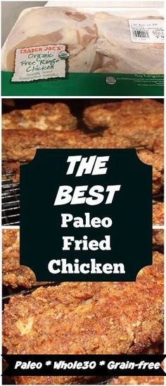 If Paleo or has you missing crispy fried chicken, this is the best oven fried chicken recipe I have found. It is gluten and dairy-free and amazing! Crispy Oven Fried Chicken, Fried Chicken Breast, Breaded Chicken, Oven Chicken, Keto Chicken, Chicken Breasts, Chicken Thighs, Keto Banana Bread, Best Keto Bread