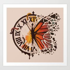 42 Ideas For Butterfly Art Painting Surrealism Life Clock Painting, Clock Art, Painting & Drawing, Indie Kunst, Indie Art, Butterfly Drawing, Butterfly Painting, Clock Drawings, Art Drawings