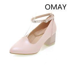 26.67$  Watch here - https://alitems.com/g/1e8d114494b01f4c715516525dc3e8/?i=5&ulp=https%3A%2F%2Fwww.aliexpress.com%2Fitem%2FNew-fashion-2015-women-shoes-high-heels-girls-shoes-woman-sapatos-femininos-salto-alto-pumps-womens%2F32266152585.html - New fashion 2017 women shoes big size thick high heels shoes pointed toe ankle strap pumps women white heel shoes wedding