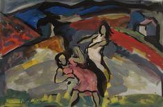 Pierre AMBROGIANI (1907-1985) - Jeunes femmes dans la campagne