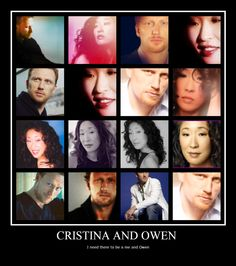 Owen Cristina Grey's anatomy idk Shonda needs to give Christina someone who understands her choices better than Owen if you ask me Greys Anatomy Owen, Cristina And Owen, Sandra Oh, Tv Couples, Going Gray, Best Couple, Shades Of Grey, Funny Moments, Movies And Tv Shows