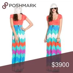 🦋COMING SOON🦋Chevron Print Maxi Dress 🦋will be $49 upon arrival🦋 like this listing to be notified of arrival. Dresses Maxi