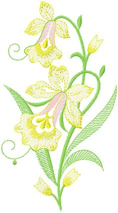 Free Jef Embroidery Design Downloads | Free elegant flower embroidery design machine embroidery design