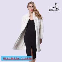 FURSARCAR 2017 New Good High Quality Real Natural Mink Fur Coat Women Winter Long Mink Fur Coat Fur Jacket Two Colors BF-C0094