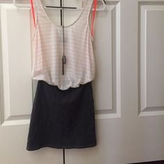 Free People Beach Attached Skirt & Tank Top: 80% Polyester, 20% Linen. Bottom: 97% Cotton, 3% Spandex. Worn twice, great condition. Free People Skirts