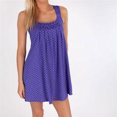 Hue Rio Dots Sleep Chemise #VonMaur #Hue #Purple #Pajama #Dress