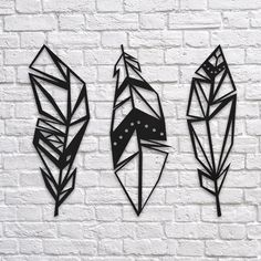 GeoFeathers - Metal Dekor www.northshire.net #wall #metal #sign #decor #decoration #interior #interiors #minimal #quote #gift #walldecor #idea #ideas #feathers #feather #geometric