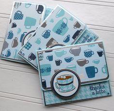 Merci porte-carte assortis embelli enveloppe - tasse de Joe